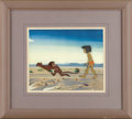 "Animation Art, ""The Jungle Book"" Production Cel Original Art (Walt Disney, 1967).Mowgli encounters a spunky monkey, in this hand painted o..."