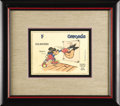 "Original Comic Art:Miscellaneous, Walt Disney Grenada ""Mickey Mouse and Pete"" Postage StampPreliminary Original Art (undated). Mickey plants a practicepunch..."