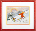 """Animation Art, Tom and Jerry """"Downhill Adventure"""" Limited Edition Hand Painted Cel#170/500 Original Art (1991). Have a merry old time with..."""