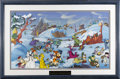 "Animation Art, ""Bedrock Wonderland"" Hand Painted Cel Artist's Proof #2/40(Hanna-Barbera Productions, 1994). Fred Flintstone and all hisfr..."