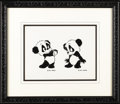 Animation Art, Andy Panda Model Sheet Original Art (Walter Lantz Productions,undated). This exceptional model sheet features vintage image...