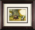 Animation Art, Andy Panda Production Cel and Background Original Art (Walter LantzProductions, undated). Andy Panda, armed with a slingsho...