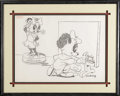 Animation Art, Andy Panda Drawing Original Art (Walter Lantz Productions,undated). Artist Andy is inspired to paint his girlfriend,Mirand...