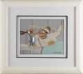 "Animation Art, Woody Woodpecker ""Woody with a Wrench"" Production Cel withPresentation Background Original Art, Signed by Walter Lantz(undat..."