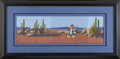 Animation Art, Woody Woodpecker Hand Painted Cel Original Art (undated). A handpainted cel of Woody Woodpecker stands against a panoramic ...