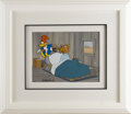 Animation Art, Woody Woodpecker and Wally Walrus Production Cel with PresentationBackground Original Art, Signed by Walter Lantz (Walter Lan...