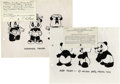 Original Comic Art:Paintings, Walter Lantz-related Cartoon Copyright Information (c. 1950s-60s). An interesting lot that includes 10 model sheets for char...