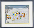 "Animation Art, Peanuts ""A Charlie Brown Christmas"" Limited Edition Hand PaintedCel #48/500 Original Art (undated). Charlie Brown and the g..."