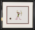 Animation Art, The Pink Panther as Robin Hood Original Production Cel #0091Original Art (DePatie-Freleng, undated). This hand painted orig...