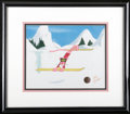 "Animation Art, Pink Panther ""Skiing"" Production Cel #9156 Original Art, Signed byFriz Freleng (DePatie-Freleng). The Pink Panther puts on ..."