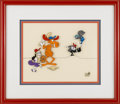 "Animation Art, ""Bullwinkle and Friends"" Hand Painted Cel Original Art (1988).Rocket J. Squirrel, Boris Badenov, Bullwinkle J. Moose, and N..."