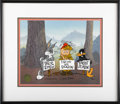 "Animation Art, Bugs Bunny, Elmer Fudd, and Daffy Duck ""Duck Season"" LimitedEdition Hand Painted Cel #127/500 Original Art (WarnerBros.,1993..."