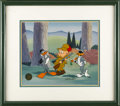 Animation Art, Bugs Bunny, Elmer Fudd, and Daffy Duck Limited Edition Hand PaintedCel #400/500 Original Art (Warner Bros., 1993). Hand pai...