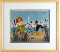 Animation Art, Daffy Duck and Elmer Fudd Limited Edition Hand Painted Cel #400/750(Warner Bros., undated). Limited to an edition of 750, t...