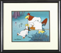 """Animation Art, Foghorn Leghorn and Barnyard Dog """"Croquet"""" Limited Edition HandPainted Cel #150/500 Original Art, Signed by Tom, Charles, and..."""