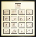 "Animation Art, ""Freudy Cat"" Storyboard Animation Signed Original Art (WarnerBrothers, 1964). In this cartoon, Sylvester winds up being tak..."