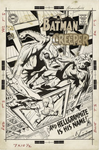 Neal Adams - The Brave and the Bold #80 Cover Original Art (DC, 1968). By this issue of The Brave and the Bold, Batman w...