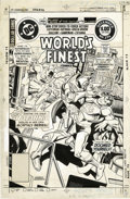 Original Comic Art:Covers, Ross Andru and Dick Giordano - World's Finest #274 Cover OriginalArt (DC, 1981). Batman, under the influence of Superman's ...