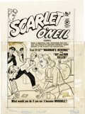 Original Comic Art:Covers, Al Avison (attributed) - Invisible Scarlet O'Neil #1 Cover OriginalArt (Harvey, 1950). When a beautiful girl discovers that... (Total:3 Items)