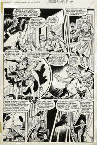 "Matt Baker - Rangers Comics #40, page 29 Original Art (Fiction House, 1948). The crooked conjurer, Zarro, ""steals&q..."