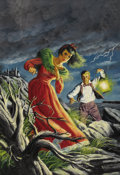 """Original Comic Art:Covers, Geoffrey Biggs - Classics Illustrated #59 (Third Printing)""""Wuthering Heights"""" Cover Original Art (Classics Illustrated,1949)..."""