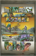 Original Comic Art:Panel Pages, Simon Bisley and Kevin Eastman - Melting Pot, Book One, page 2 Original Art (Kitchen Sink, 1994). Her laser wounds the vicio...