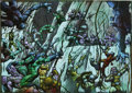 Original Comic Art:Splash Pages, Simon Bisley and Kevin Eastman - Melting Pot Original Art (KitchenSink, 1994). A virtual masterpiece of mutated futuristic ...