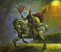 "Original Comic Art:Sketches, Simon Bisley - Magic: The Gathering Ninth Edition Trading Card ""Paladin en-Vec"" Illustration Original Art (Wizards of the Coas..."