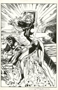 Original Comic Art:Splash Pages, John Byrne and George Perez - Cyclops/Phoenix Pin Up Original Art(1992-2004). John Byrne and George Perez recreate the dram...