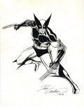 Original Comic Art:Sketches, Dave Cockrum - Wolverine Illustration Original Art (1983). The Man with the Claws takes his battle stance in this wicked por...