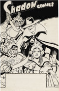 Original Comic Art:Covers, Charles Coll - The Shadow V6#11 Cover Original Art (Street &Smith, 1947). Charles Coll was a superb illustrator for the ori...