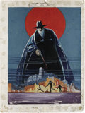 Original Comic Art:Covers, Charles Coll - The Shadow Annual Pulp Cover Original Art (Street & Smith, 1947). The Master of Darkness, the Shadow, stand g...