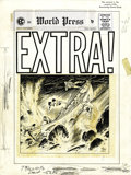 "Original Comic Art:Covers, Johnny Craig - Extra #4 Cover Original Art (EC, 1955). ""If itbleeds, it leads"" -- so goes a tried-and-true news media adage..."