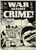 Original Comic Art:Covers, Johnny Craig - War Against Crime #8 Cover Original Art (EC, 1949).From the late, great Johnny Craig comes a galvanized gang...