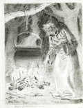 Original Comic Art:Sketches, Johnny Craig - The Old Witch Sketch Original Art (undated). Hee,hee, hee! Here's a creepy pencil sketch of the Old Witch, d...