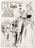Original Comic Art:Covers, Reed Crandall - Hit Comics #62 Cover Original Art (Quality, 1950).Hit Comics #1 and National Comics #1 both debuted...