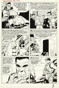 Original Comic Art:Panel Pages, Steve Ditko and Don Heck - Tales of Suspense #47, page 3 OriginalArt (Marvel, 1963). Just eight issues after his debut, Iro...