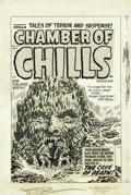 Original Comic Art:Covers, Lee Elias - Original Cover Art for Chamber of Chills #10 (Harvey,1952). A truly twisted piece from one of Harvey's greatest...