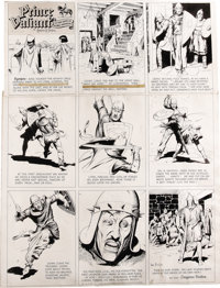Hal Foster - Prince Valiant Sunday Comic Strip Original Art, dated 10-31-48 (King Features Syndicate, 1948). This action...