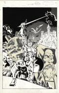 Original Comic Art:Covers, Armando Gil (attributed) - The Saga of Crystar, Crystal WarriorUnpublished Cover Original Art (Marvel, 1983). Notes indicat...