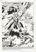 Original Comic Art:Splash Pages, Tom Grummett and Ray Kryssing - Robin #2 Splash Page 1 Original Art(DC, 1993). Robin takes on Shotgun Smith in this hard-hi...