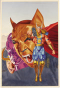 Original Comic Art:Covers, Lou Harrison - Thor #483 Cover Original Art (Marvel, 1995). The400th issue of Thor featured this striking Lou Harrison ...