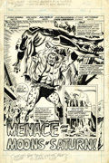 Original Comic Art:Splash Pages, Don Heck and Don Perlin - Daredevil #105, Splash page 1 OriginalArt (Marvel, 1973). Witness a scene of unmitigated terror! ...