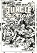 Original Comic Art:Covers, Gil Kane - Jungle Action #5 Unpublished Cover Original Art (Marvel,1973). From the unexplored wilds of the Bronze Age comes...