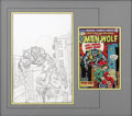 Original Comic Art:Covers, Gil Kane - Creatures on the Loose #30, Man-Wolf Cover PreliminaryOriginal Art (Unpublished, circa 1974). Legendary Silver a...