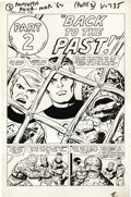 Original Comic Art:Splash Pages, Jack Kirby and Joe Sinnott - Fantastic Four #5, page 6 Original Art(Marvel, 1962). Caught in the master plan of Dr. Doom, J...