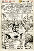 Original Comic Art:Panel Pages, Jack Kirby and Chic Stone - Journey Into Mystery #106, Thor SplashPage 1 Original Art (Marvel, 1964). The majestic Thor sta...