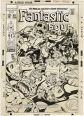 Original Comic Art:Covers, Jack Kirby and Joe Sinnott - Fantastic Four #85 Cover Original Art(Marvel, 1969). Face front, Marvelites! This is but the ... (Total:2 Items)