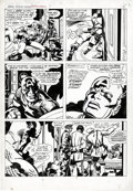 Original Comic Art:Panel Pages, Jack Kirby and Barry Smith - Marvel Treasury Special #1, CaptainAmerica's Bicentennial Battles, page 7 Original Art (Marvel, ...