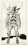 "Original Comic Art:Sketches, Jack Kirby and Mike Royer - ""Lord of Light"" Presentation Piece Original Art (1978). When it came to creating fantastic costu..."